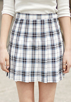 Madras Check Tennis Skirt