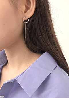 Circle Object Drop Earring