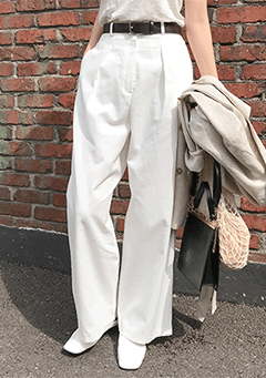 Pin Tuck Long Pants