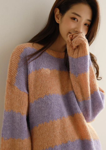 Addicted To Growth Stripes Knit Sweat