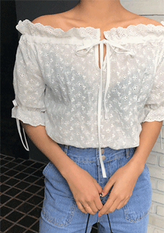 Anoka Lace Off Shoulder Blouse