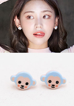 Monkey Blue Earrings