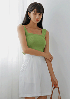 Pop Crop Knit Sleeveless