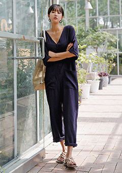 Big Pocket Button Jumpsuit
