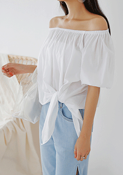 Tie Off-Shoulder Blouse