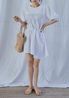 Natural String Unbalanced Dress