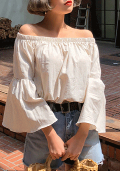Bombay Off Shoulder Angel Shoulder Blouse
