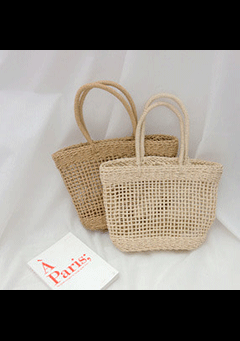 Soay Shoulder Straw Bag