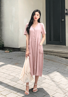 Pale Dogwood Loose Maxi Dress