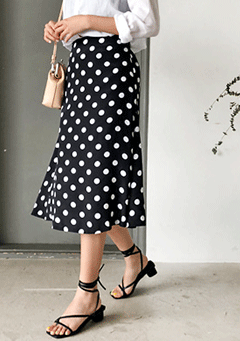 Cry For Love Polka-Dot Midi Skirt