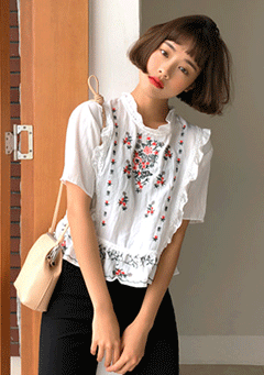 All I Ever Need Embroidered Blouse