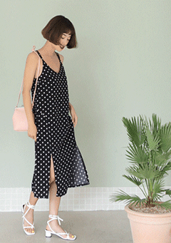 Love Is Old Polka-Dot Cami Dress