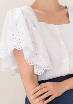 Sweet Verena Lace Sleeves Blouse
