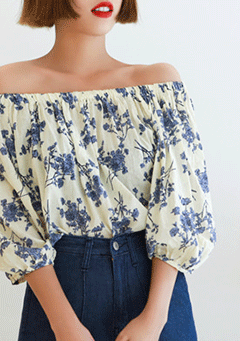 Beautensia Lavender Off Shoulder Blouse