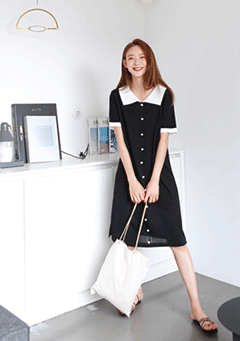 Jemke Collar Neck Dress