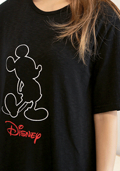 A Mouse Shadow T-Shirt Dress