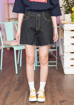 Boyishly Pretty Denim Shorts
