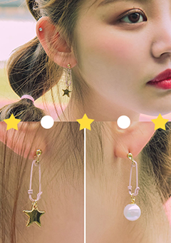 Clipping Star Earrings