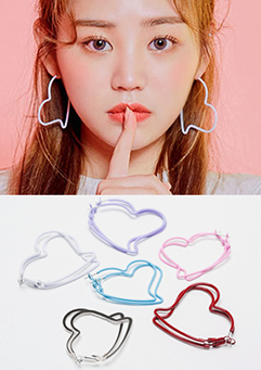 Misshaped Heart Earrings