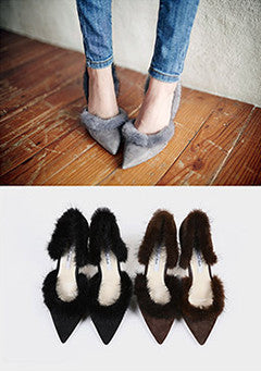 Full Moon Fur Shoes