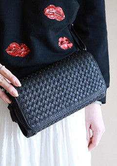 Grid Purse Clutch