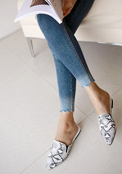 Patterned Pointed Slippers