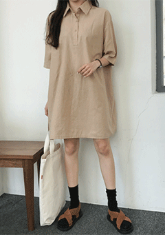 Melody Linen Simple Dress