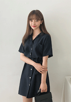 Pocket String Simple Dress