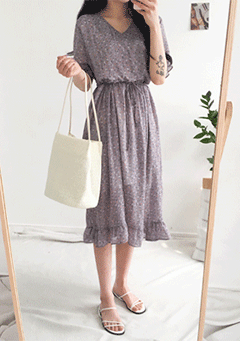 Sally Puff Floral Dress