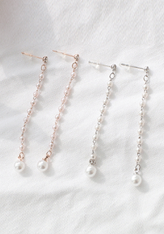 Remote Pearls Pull Through Earrings
