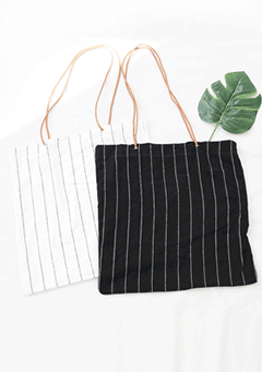 Kenny Cord Straps Stripes Tote Bag