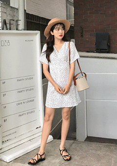 Time Troubles Polka-Dot Mini Dress