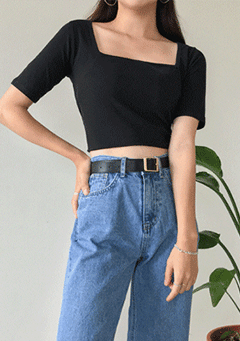 You Decide Square Neck Crop Top
