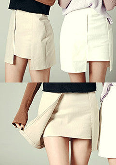 Unbalance High Waist Skirt