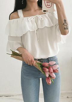 Hundred Of Love Off Shoulder Blouse