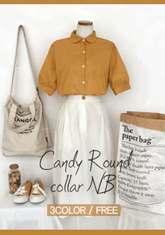 Candy Round Collar Shirt