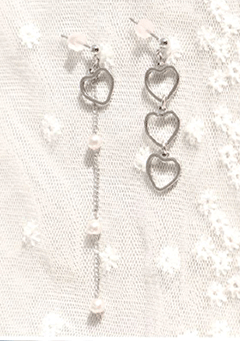 Uneven Hearts Number Earrings
