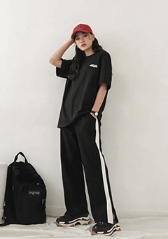 Lukman Stripes Side Sports Pants