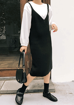 Miss Independent Knit Sleeveless Dress