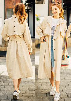 Back Button Point Trench Coat