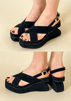 Unique Heel Strap Sandals