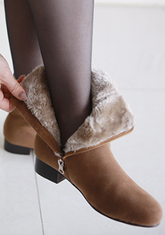 Inside Fur Low Heel Ankle Boots