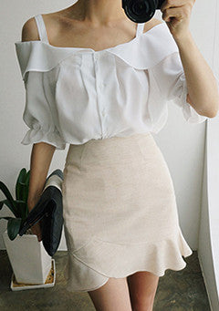 Summer Cool Mood Frill Skirt
