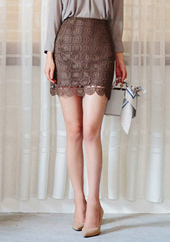 Lace High Rise Mini Skirt