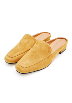 Suede Upper Loafer Slippers