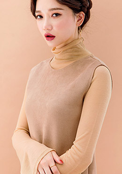 Loose Neck Hem Turtle Neck
