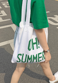 Oh Summer Knit Tote Bag