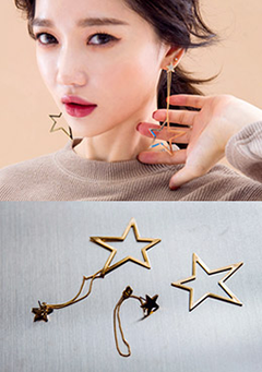 Dangle Star Earrings