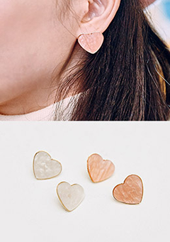 Candy Pearl Heart Earrings