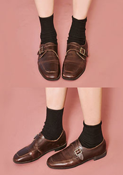 Mono Bucklet Loafers